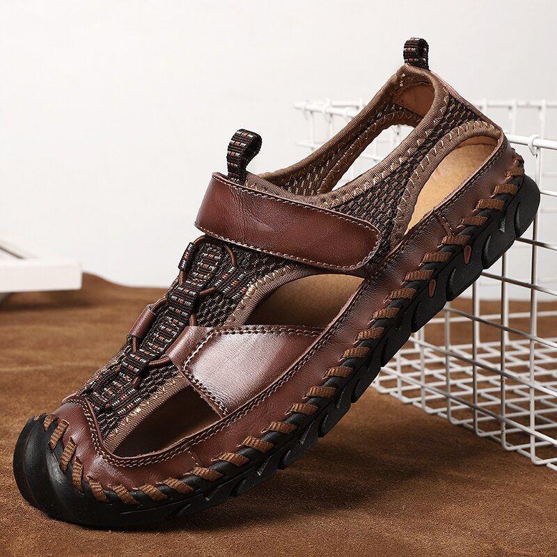 Summer Bigsize 45 Men Sandals Handmade Weaving Design Casual Outdoor Beach Shoes