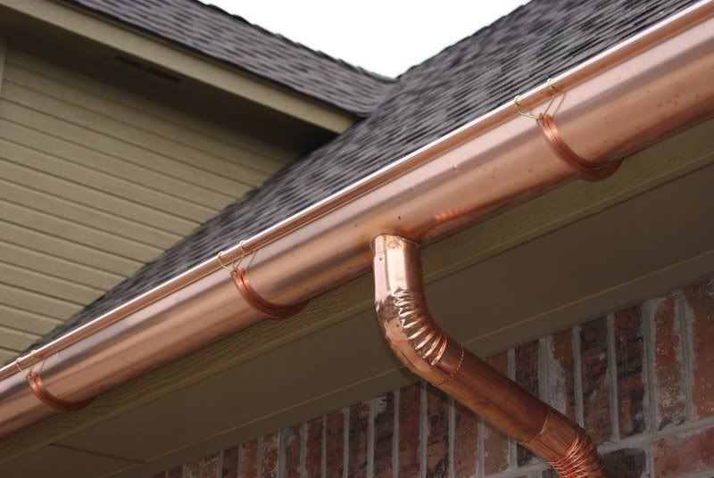 1 2 Round Copper Gutter Gutters How To Install Gutters Downspout