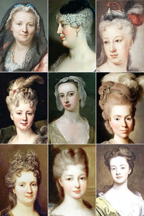 18th Century Woman s Hairstyles A collection of...  c97808e93c