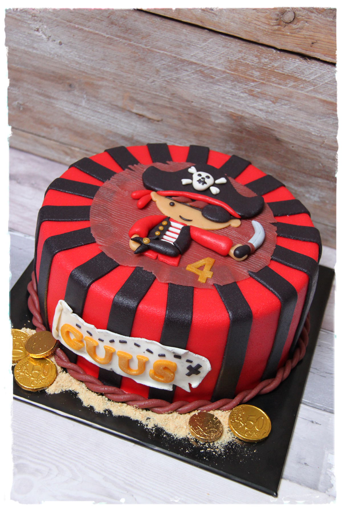 Einfacher Fondant Kuchen Pirate Cake Piratentaart Made By Simplysweet Nl Fimo
