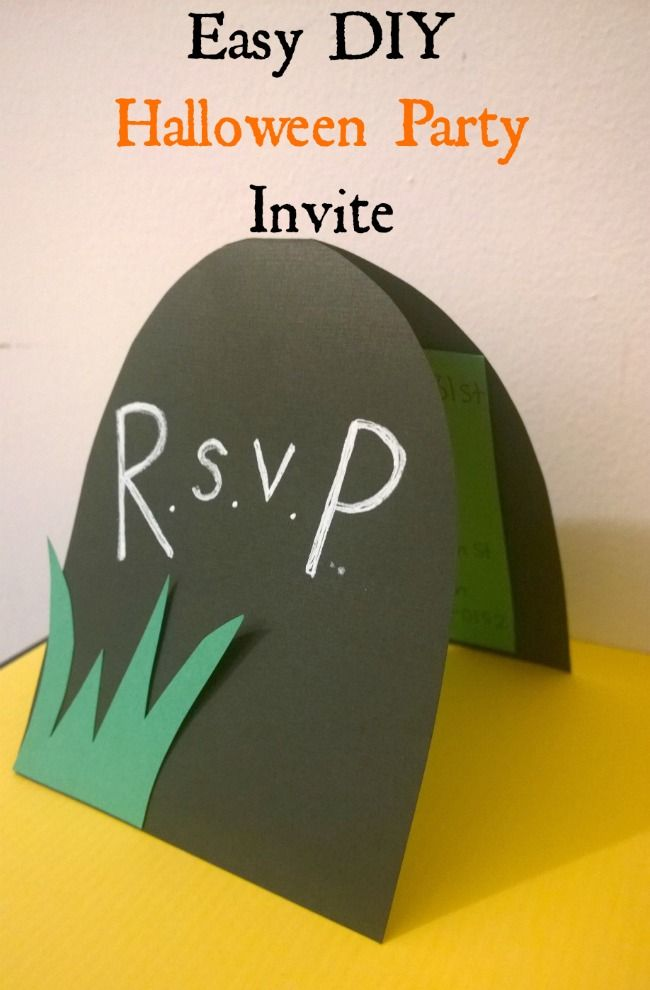 easy diy halloween party invitation bloggers fun family projects
