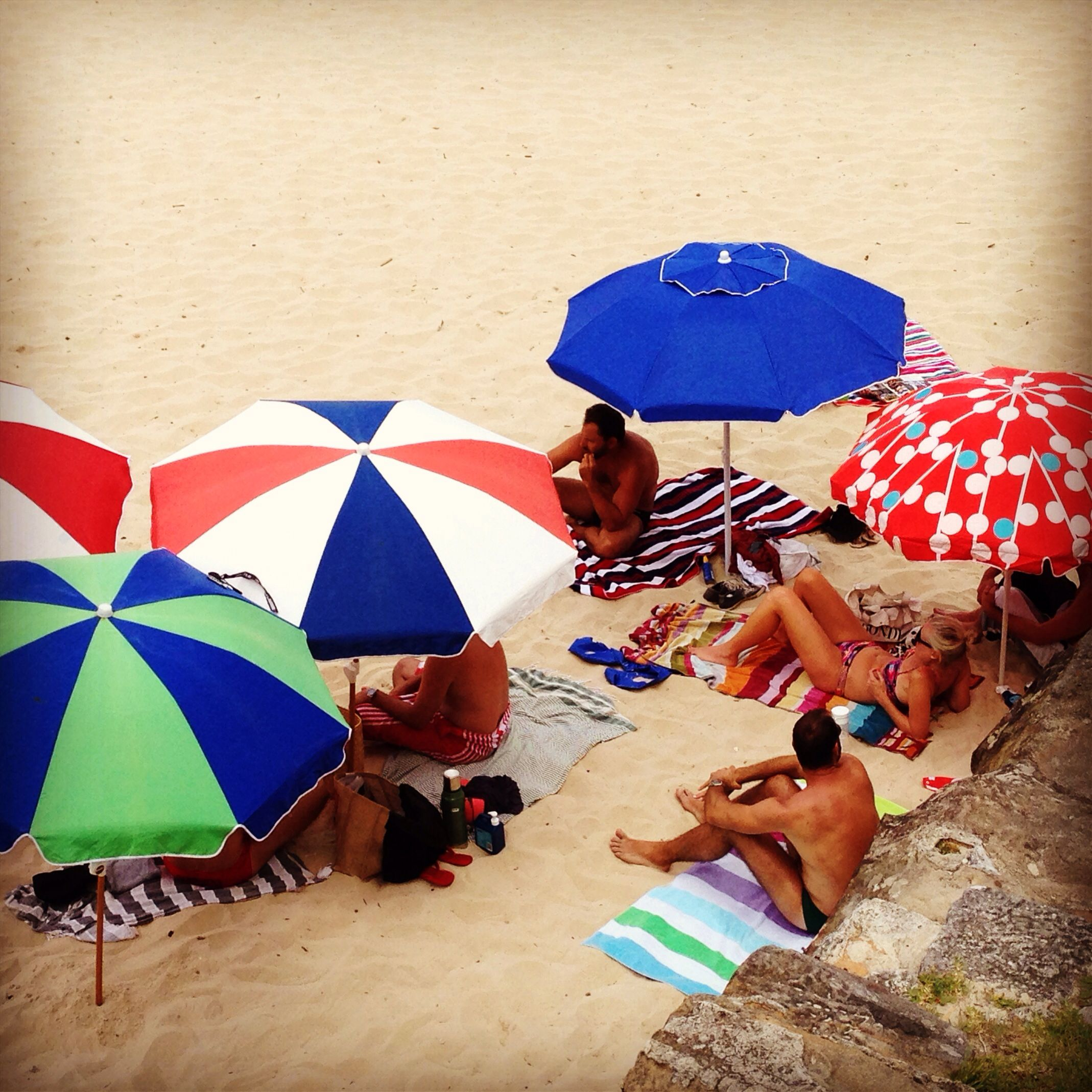 Beach umbrellas, Bondi Beach umbrella, Umbrella, Beach