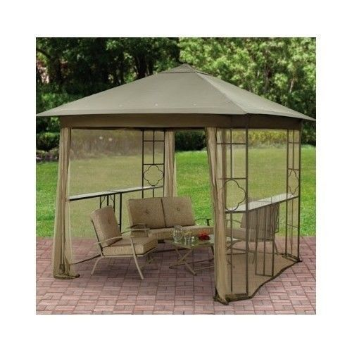 Netting Screen Grill Gazebo Awning Outdoor Canopy Party Room Shelter BBQ Hardtop