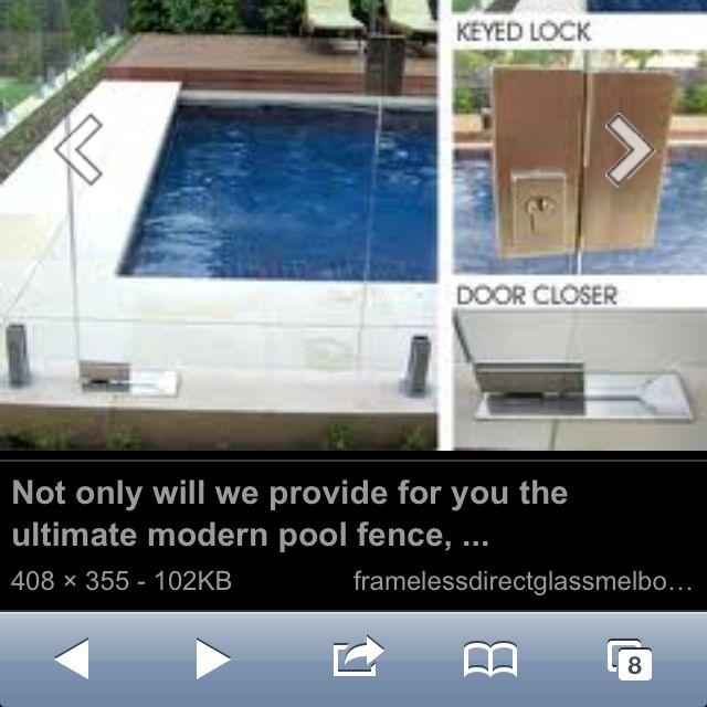 Glass Pool Baby Gate Modern Pools Glass Pool Pool