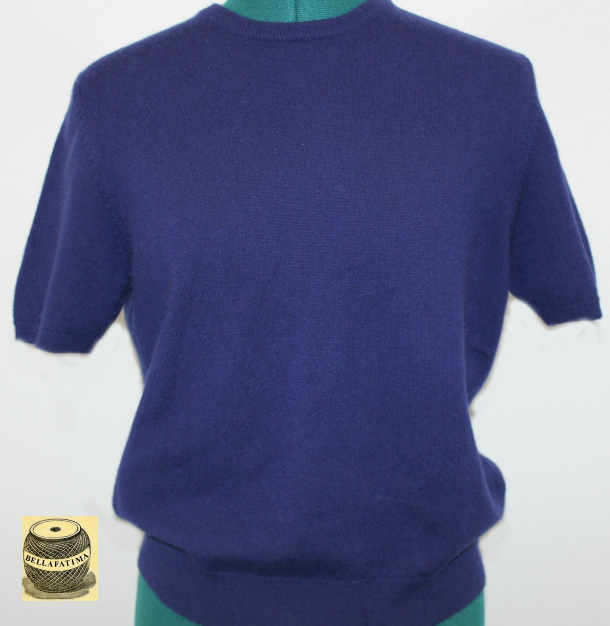 Navy Blue Short Sleeve Cashmere Sweater. By TSE. $27.00 | A ...