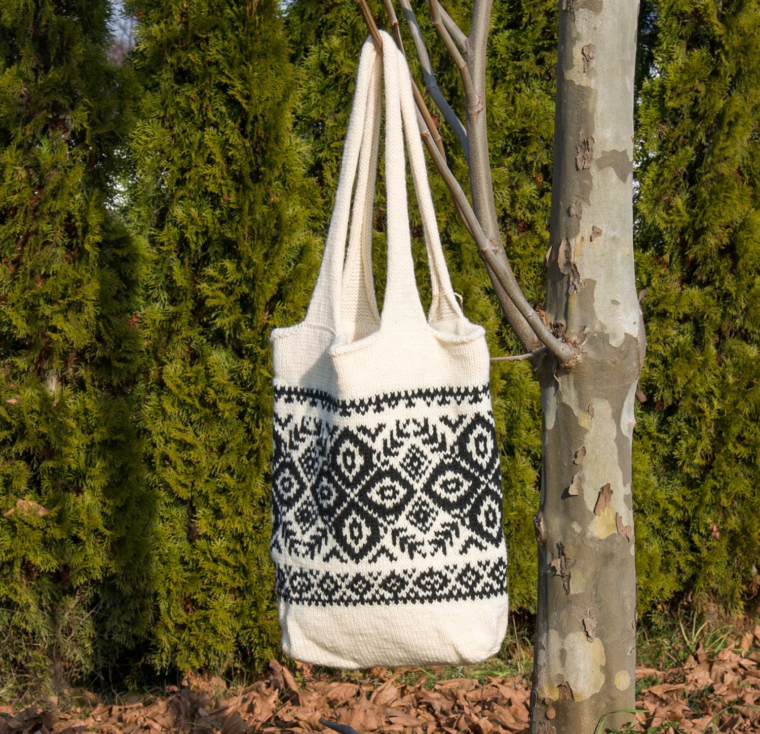 Hand knitted nordic tote bag in scandinavian traditions handmade hand knitted nordic tote bag in scandinavian traditions handmade norwegian selbu snowflake gift for her christmas gift ready to ship by begak bankloansurffo Gallery