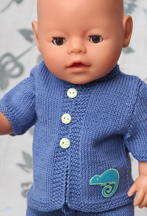 Baby Dolls Clothes Knitting Patterns | Беби Берн 2 | Pinterest ...