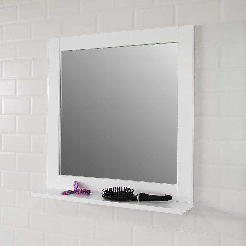 Sobuy Specchiera Bagno Con Mensole Bianco Specchio L57 A58 P10 Cm