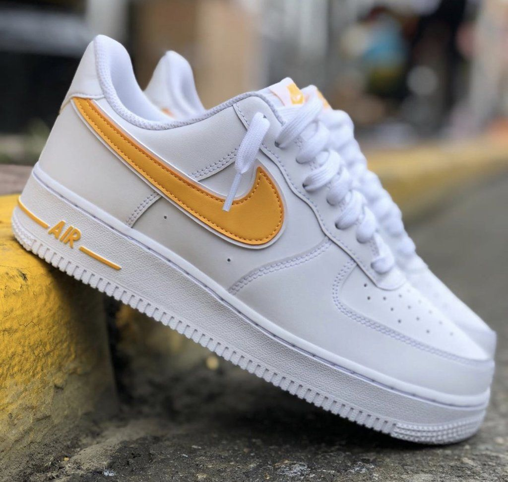 Nike air force 1 see through white yellow in 2020 | Nike air