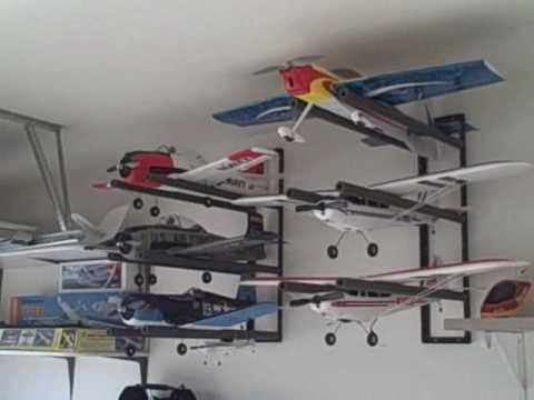 Radio Control Rc Airplane Wall Hanger Storage Rack System Rc Airplanes Rc Model Airplanes Radio Control