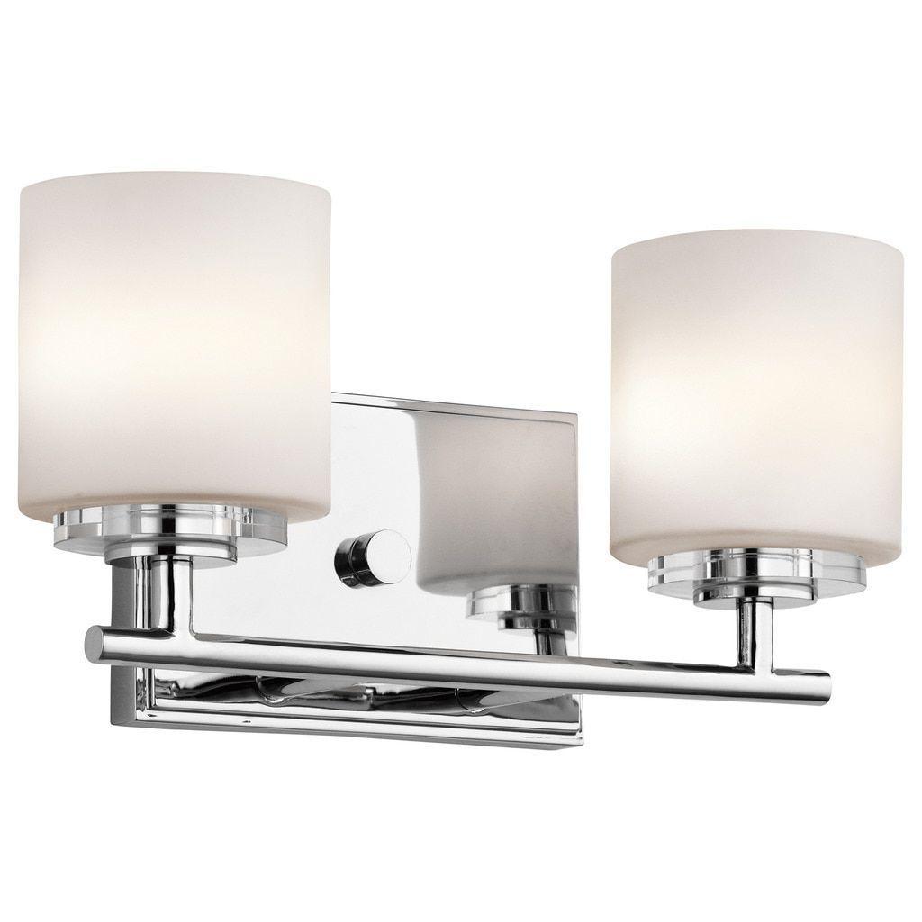 Kichler Lighting OHara Collection Light Chrome Halogen Bath - Bathroom vanity lights chrome finish