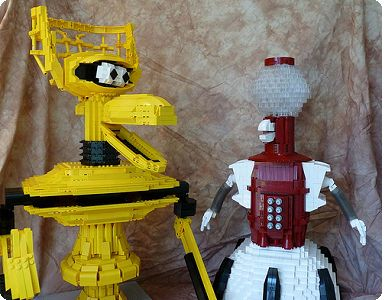 LEGO Crow and Tom Servo