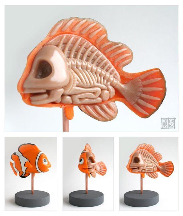 Finding Nemo Anatomy Sculpt   Art toy, Creepy toys, Custom ...