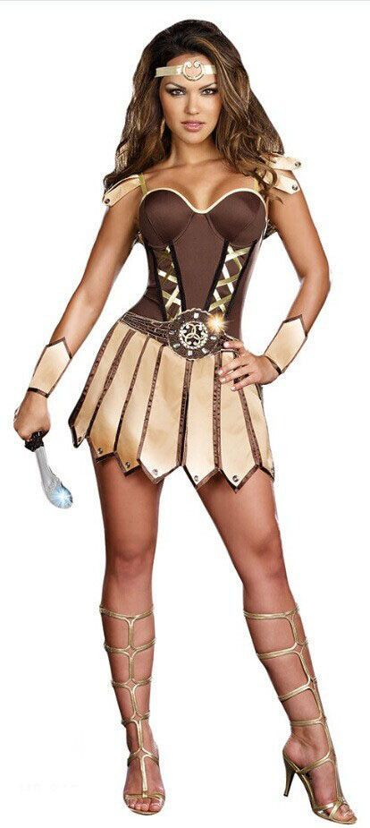 e6dacfbe35 Gladiator Costumes Adult Ladies y 1940 s Burlesque Ancient Roma Warrior Fancy  Dress Up Halloween Party Outfit For Women New Alternative Measures