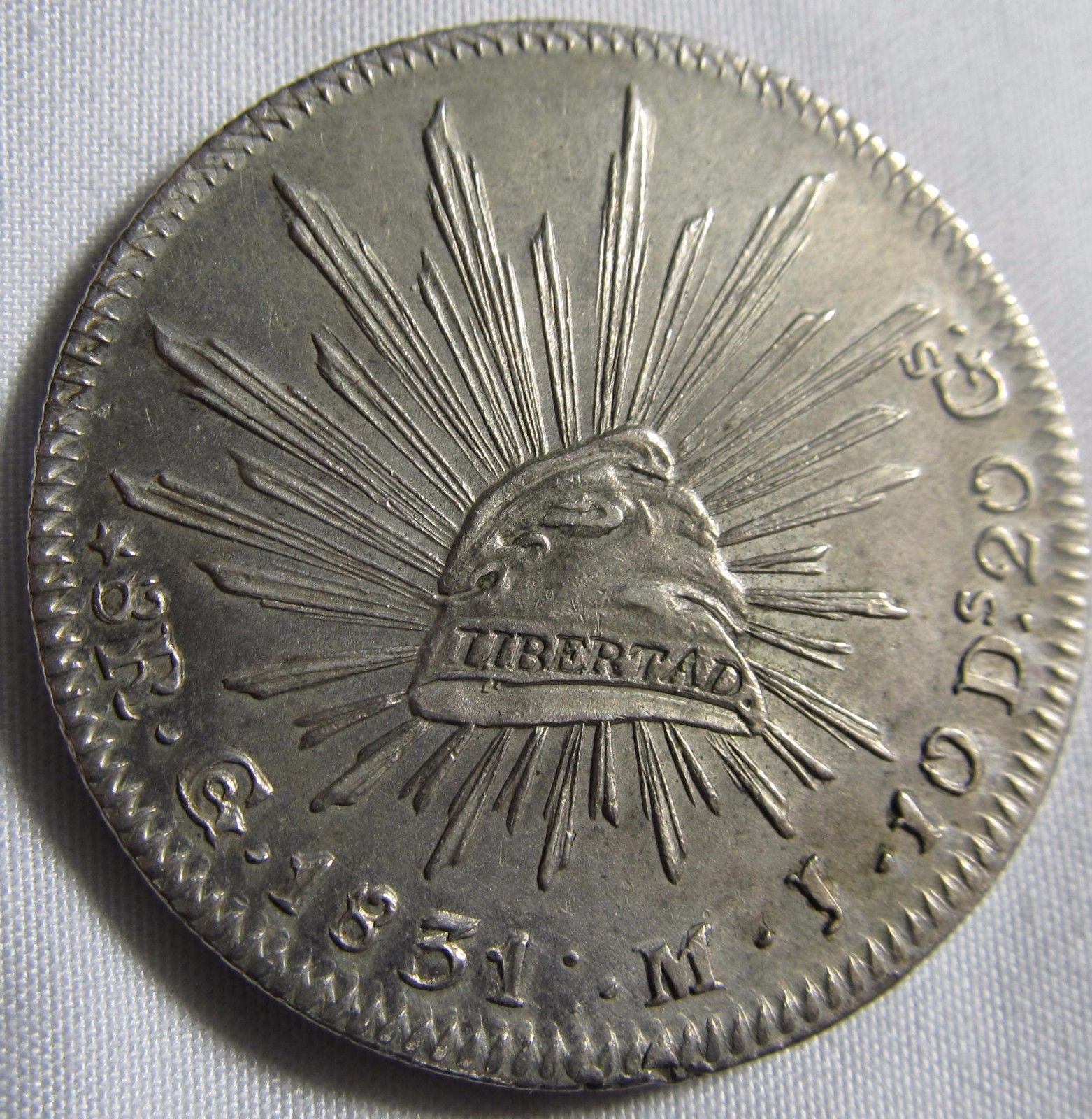 Mexico 1831 Go MJ Silver 8 Reales Lustrous XF-AU https://t.co/0slzLi8FZj https://t.co/GEN4oZEPoe