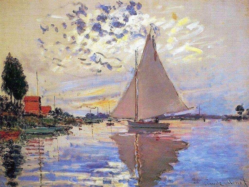 Voilier Au Petit Gennevilliers C Monet W 336 Claude Monet