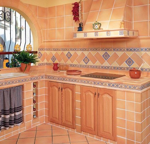 Muebles de cocina de ceramica buscar con google - Azulejos para patio ...