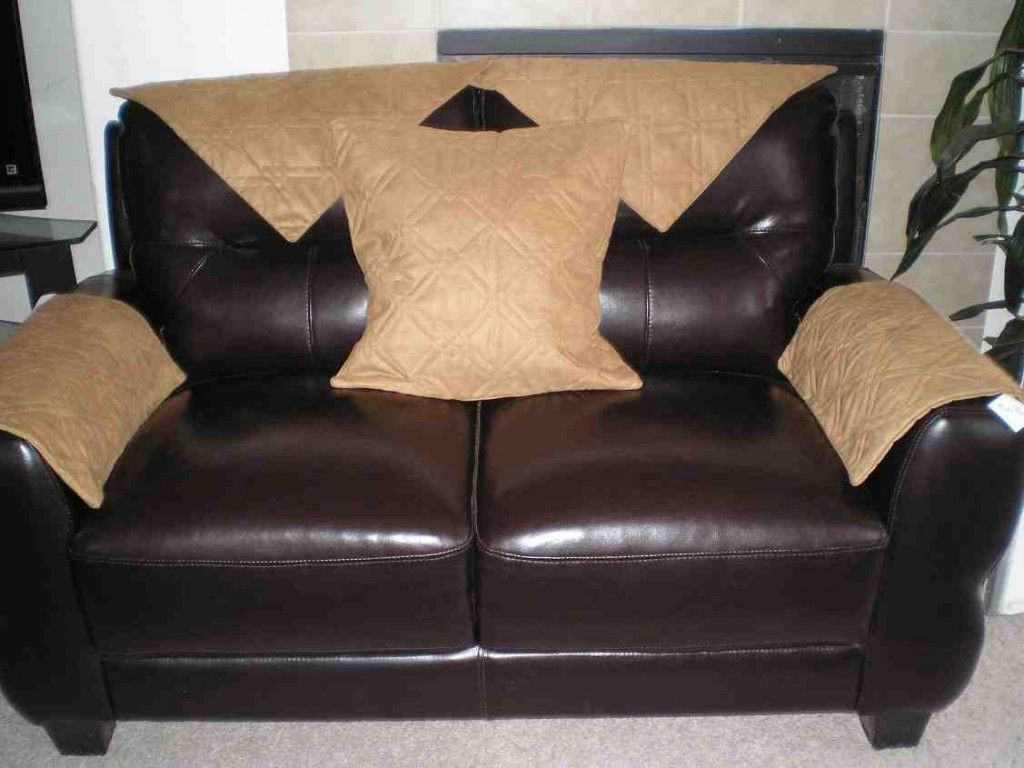 Leather Sofa Arm Covers Faux Leather Sofa Cushions On