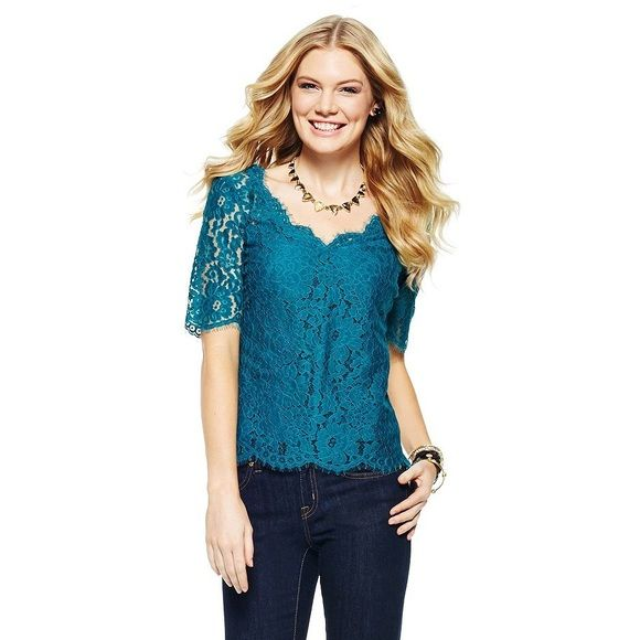 C.Wonder Lace Top Beautiful lace top by C. Wonder! V-neck with eyelash lace along the neckline. Includes a silk cami. Worn once; in like-new condition. Fits true to size. From a clean, pet-free, smoke-free home. C. Wonder Tops