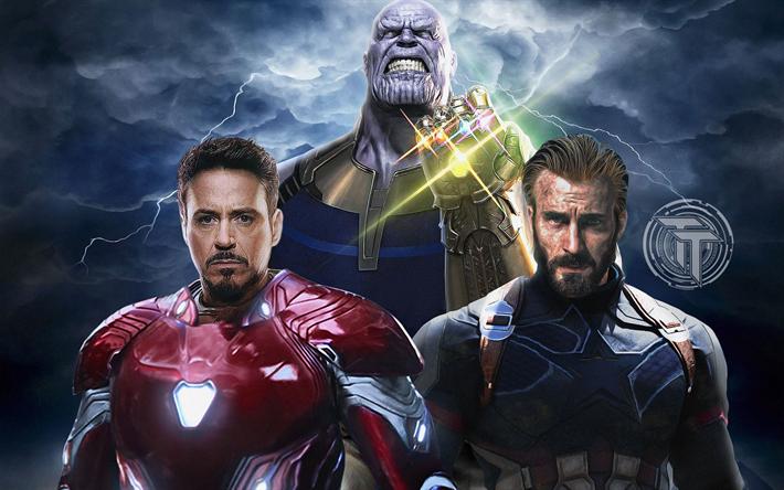 T l charger fonds d 39 cran avengers infinity war super h ros 2018 film captain america iron - Iron man telecharger ...