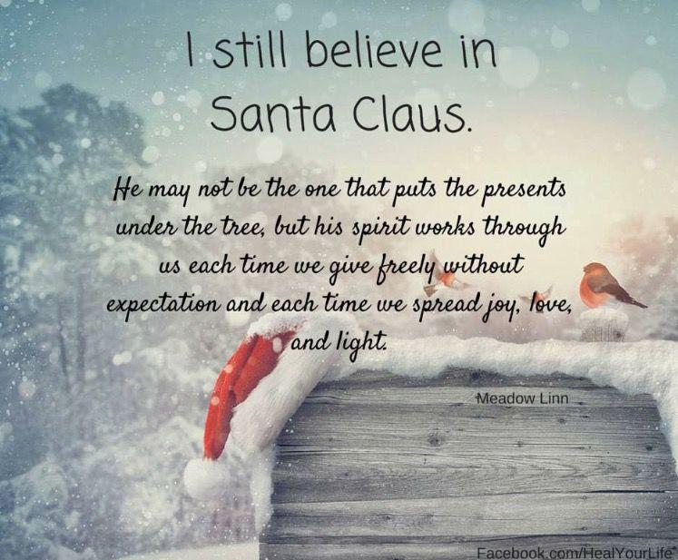 Believe In The Spirit Of Santa Christmas Love Christmas Cheer Christmas Magic