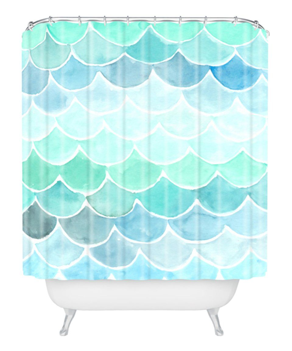 Take A Look At This Wonder Forest Mermaid Scales Shower Curtain