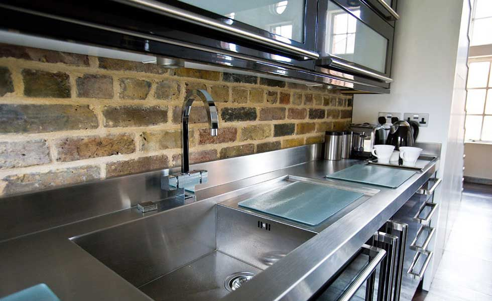Image result for stainless steel ]kitchen worktop