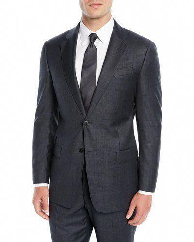 0468b11b17654 Emporio Armani Men's Mini Houndstooth Two-Piece Suit #Menssuits ...