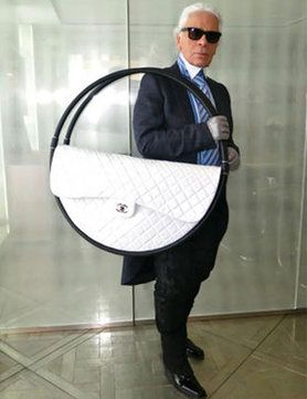 c2b58154bdf345 The Legend Karl Lagerfeld holding the Hula Hoop bag | Chanel Spring Summer  2013
