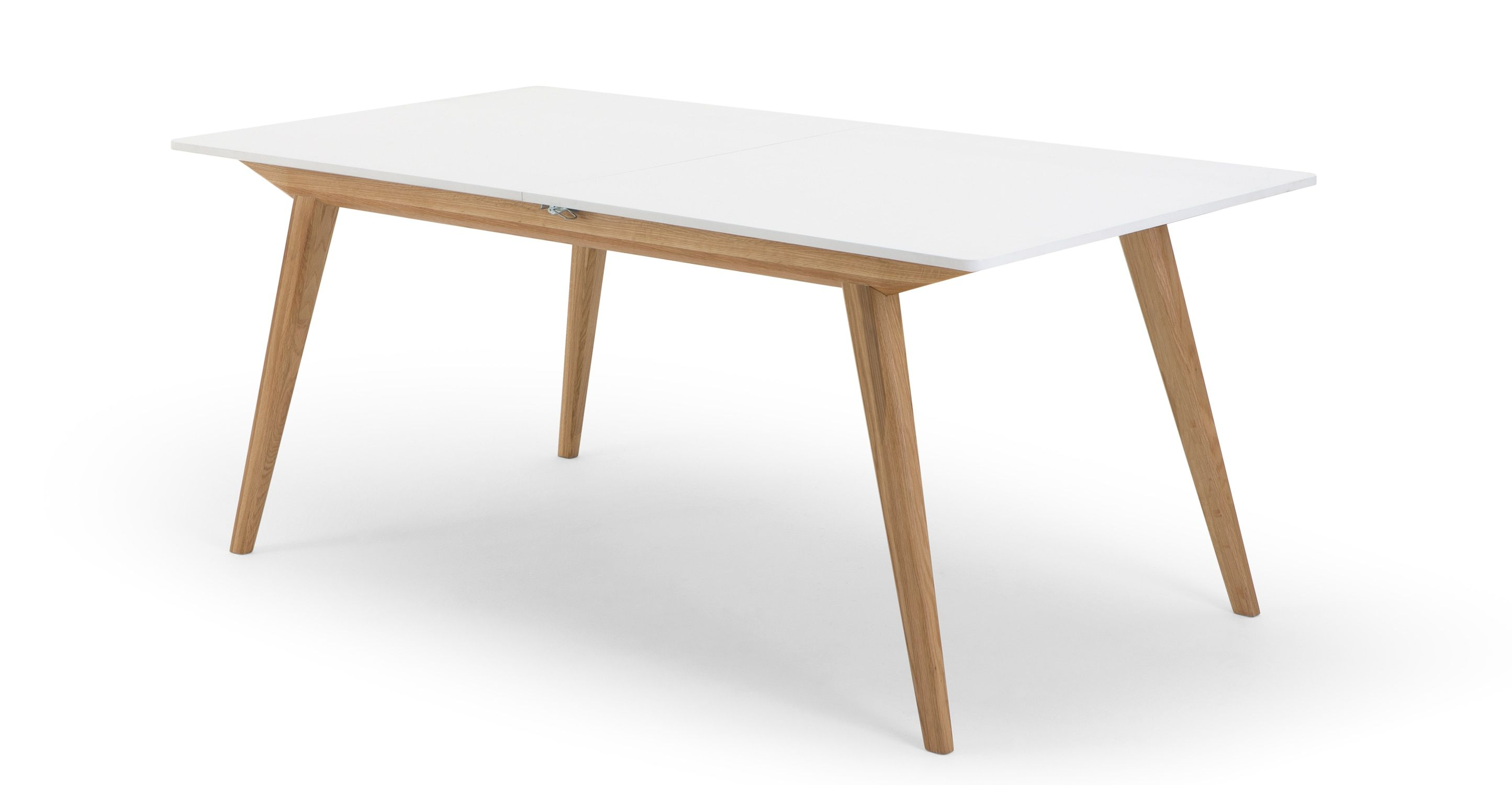 MADE Natural Oak & White Dining Table