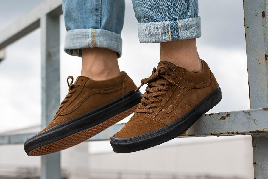 vans old skool teak black