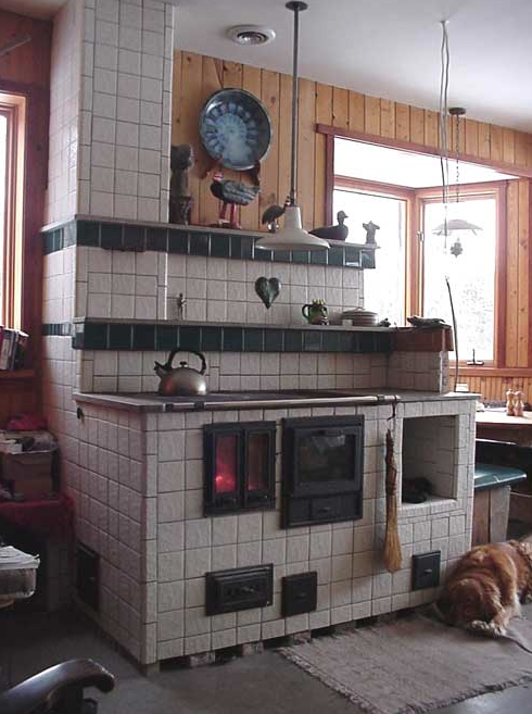 A more modern version of the Russian stove.