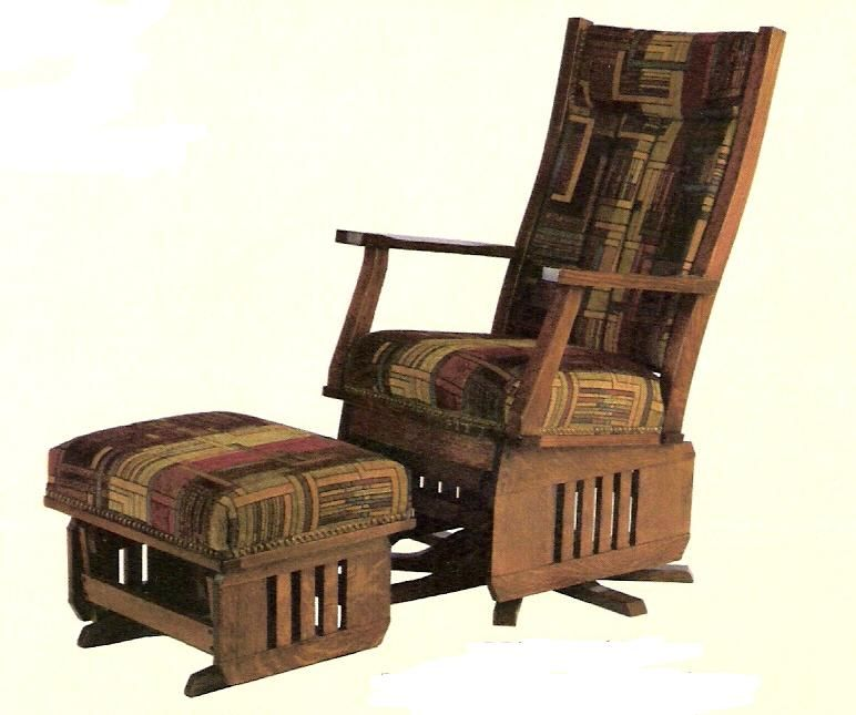 Amish Leola Mission Swivel Glider Rocker Rocking Chairs