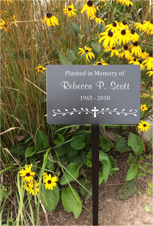 Memorial Plaque With Stake Garden Markers Memorial Marker