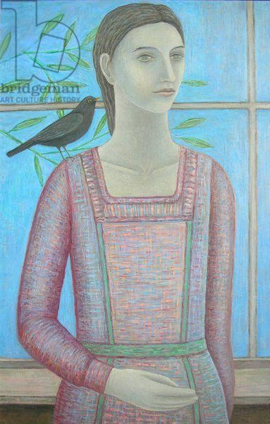 A Woman and a Blackbird are One, 2012, oil on panel
