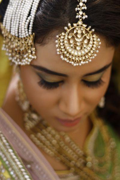Maang Tikka Bride in a Pearl