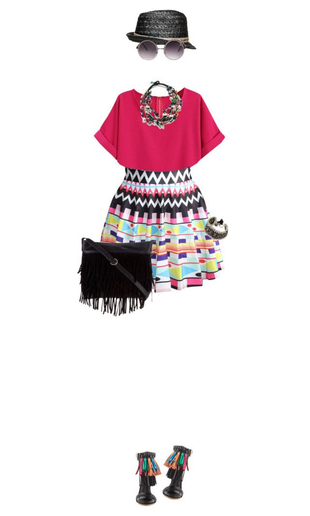 """Colorful & Fringed"" by lorantin ❤ liked on Polyvore featuring Privileged, Steve Madden, Urban Originals, Vera Bradley, Quay, women's clothing, women's fashion, women, female and woman"