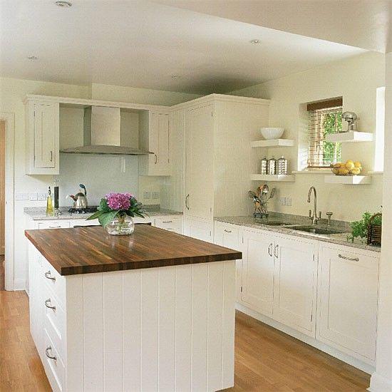 White Kitchen Units Wood Worktop effective flooring and worktop combinations | how to buy kitchen
