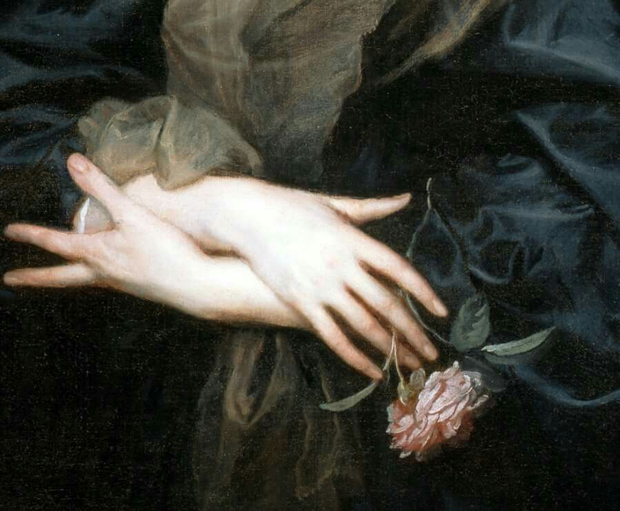 Anthony Van Dyck Portrait of a woman with roses