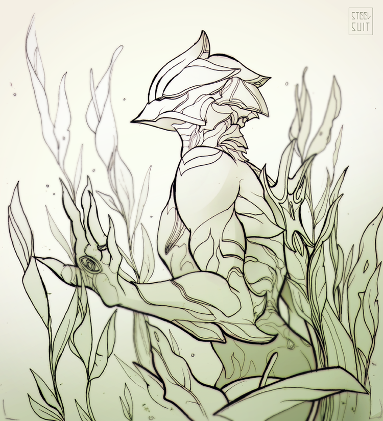Warframe doodles/lines and a marker coloured... - Steelsuit | [game ...