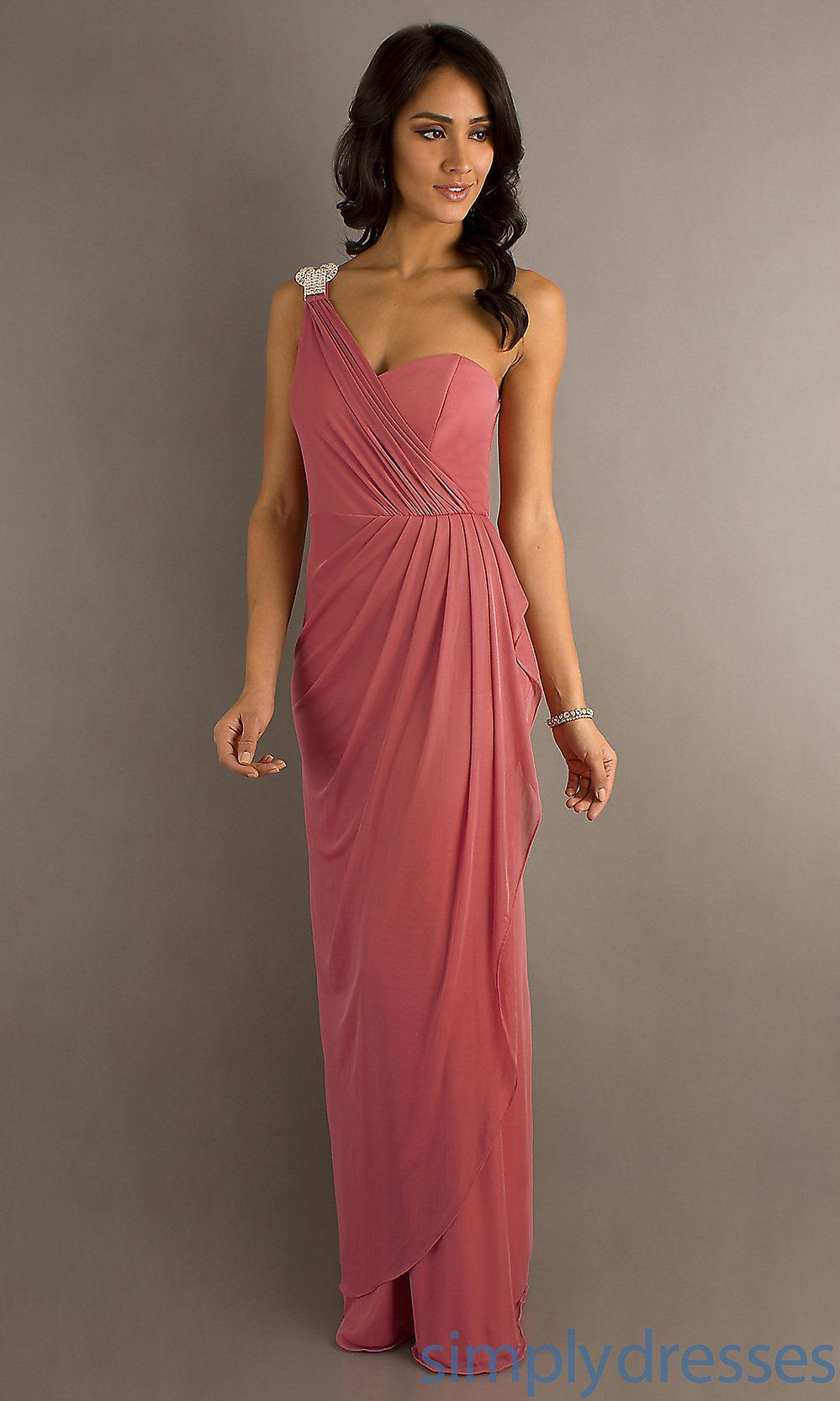 Long one shoulder dress budget long prom dress simply dresses