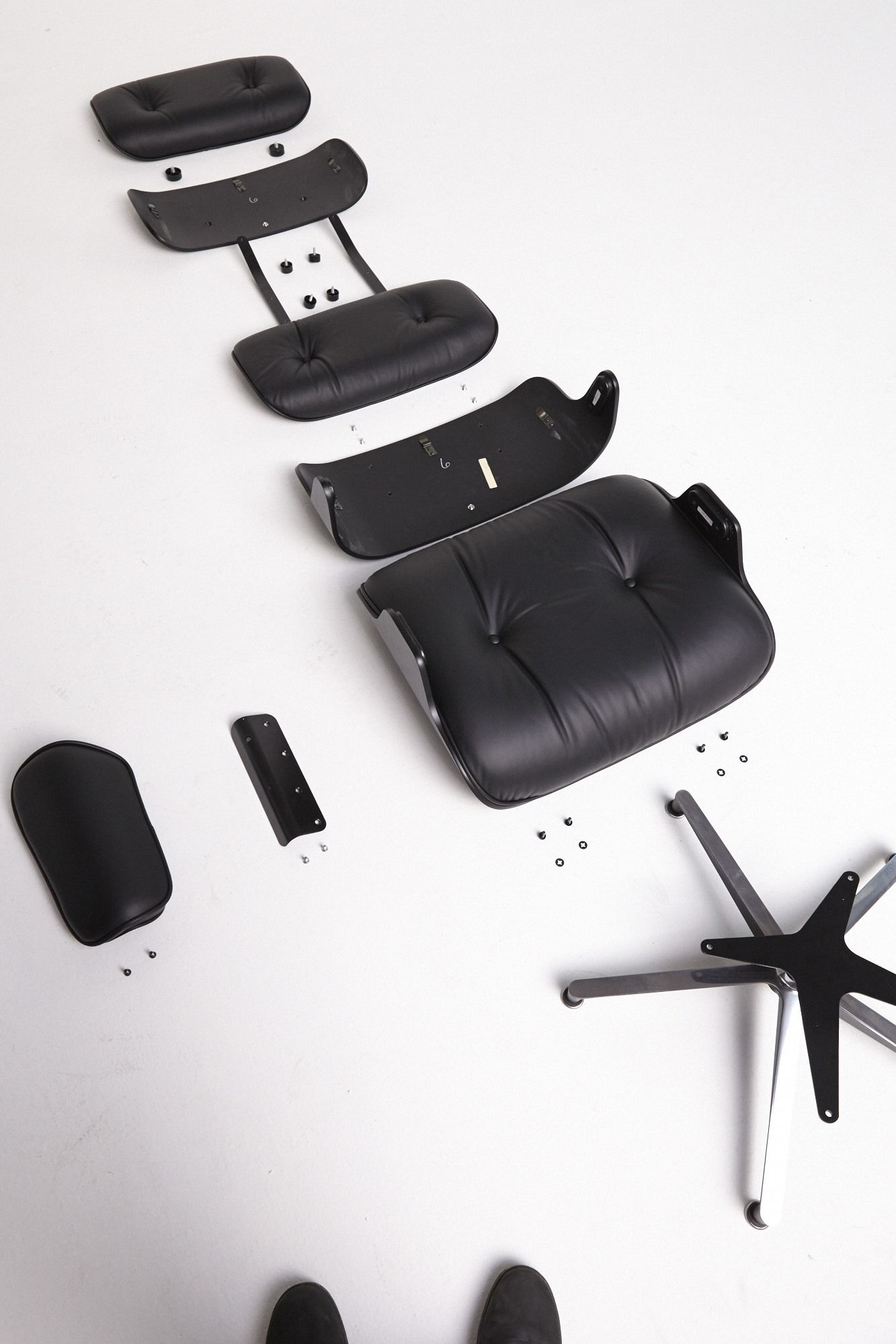 Disassembled Eames Lounge & Ottoman