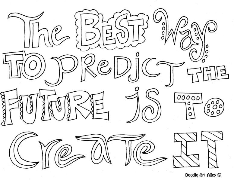Quote Coloring Page The best way to predict the future Coloring - best of dr seuss quotes coloring pages