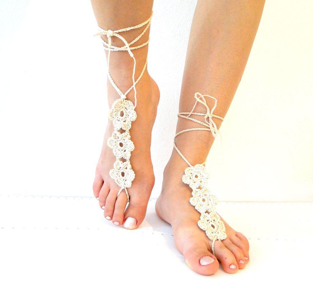 Crochet barefoot footsie. via Etsy. | crochet | Pinterest | Tejido