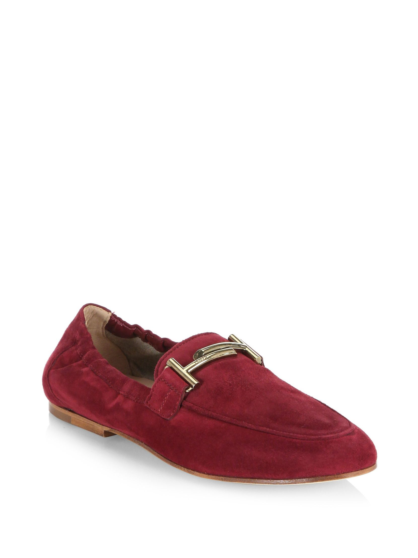 Tod's Cuoio Legg Suede Loafers UEhcdAk5