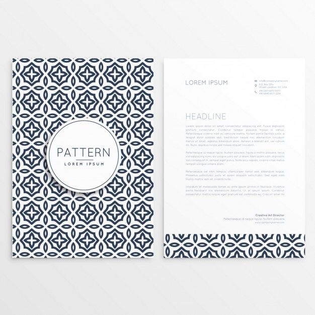 Floral letterhead template Free Vector patterns Pinterest - letterheads templates free download