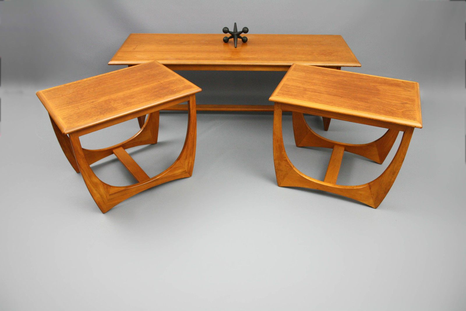 Mid century set of 3 large coffee tables kalmar sleigh leg retro mid century set of 3 large coffee tables kalmar sleigh leg retro vintage danish era geotapseo Image collections