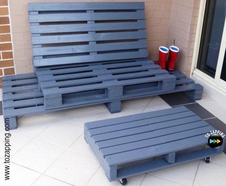sof de exterior hecho con palets - Sofas De Palets