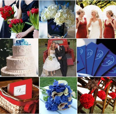 Red, White, and Bllue Wedding Theme Ideas l #weddingideas | Wedding ...