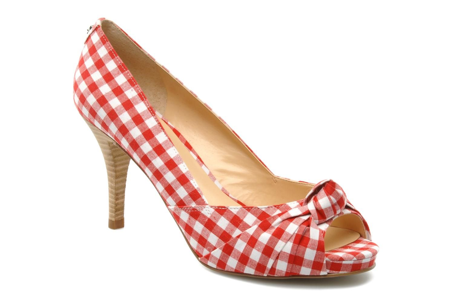 Chaussures femme Guess - Escarpins vichy rouge blanc   Chaussures ... 27b21f4a0dfe